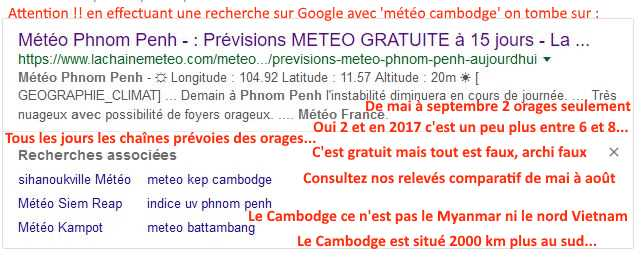 Attention aus fausses informations